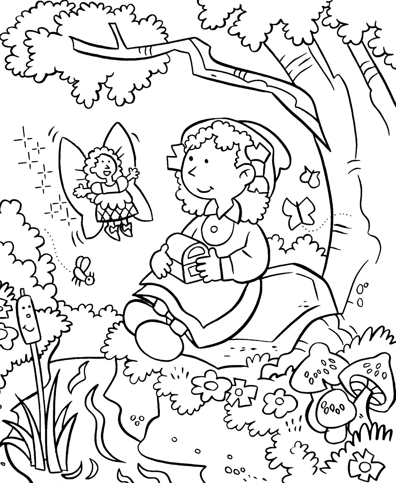 Flower Garden Colouring : Coloring pages for kids flower garden