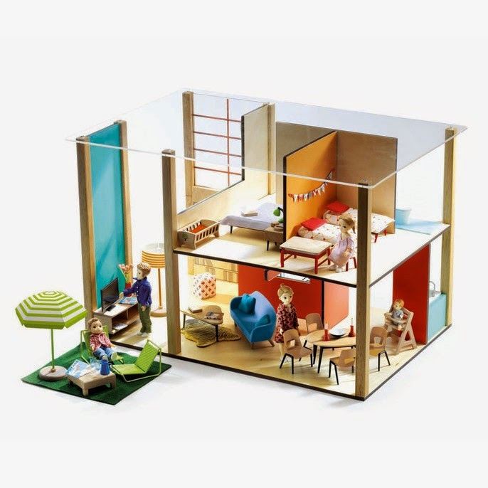 116 Djeco Dollhouse Is Throwback Modern on Mini Miniature Dollhouse Furniture
