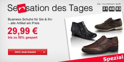 Sensation des Tages bei Neckermann: Elegante Business-Schuhe für 29,99 Euro