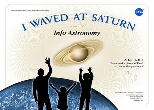 Info Astronomy Mendapat Sertifikat dari NASA