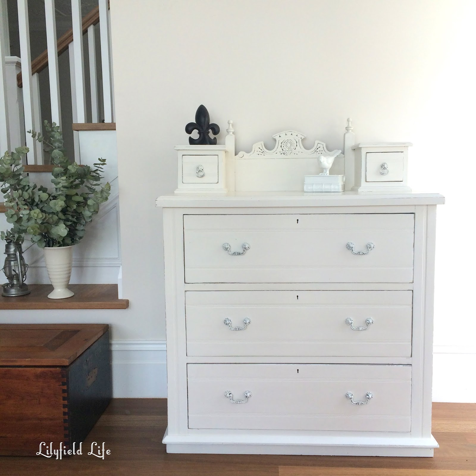 White Chest Of Drawers ~ Lilyfield life vintage white chest of drawers