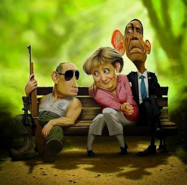 A Obama, la Merkel, le  esta  Póniendo cachos