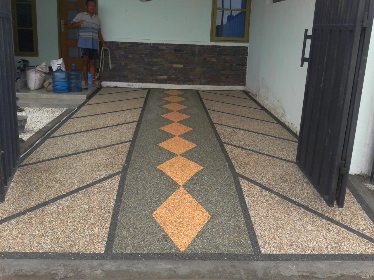 contoh lantai garasi mobil
