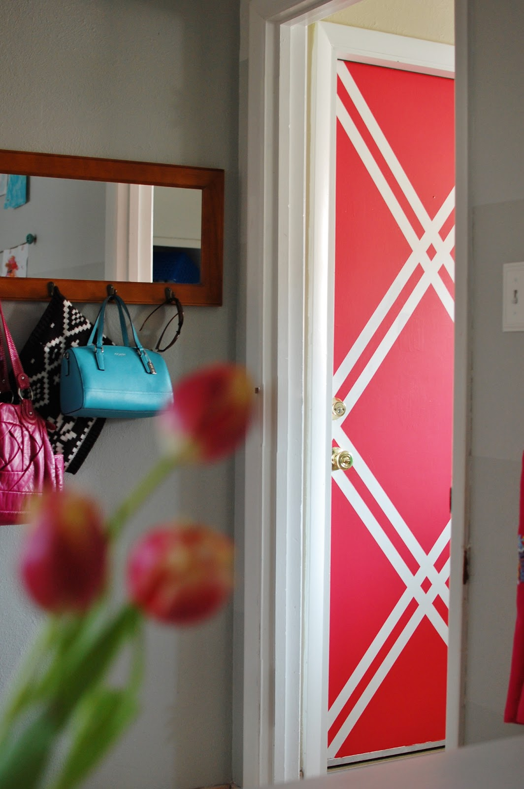 Wall paint patterns using tape - Squares Wall Color Ideas Pinterest