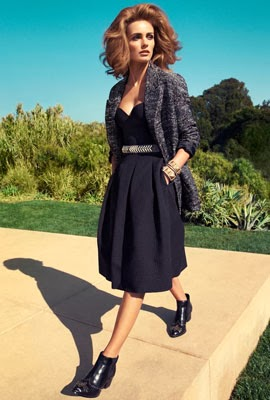 moda primavera 2014 H&M mujer vestido negro