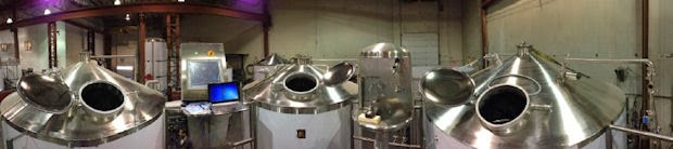 Dry Dock's brewing tanks