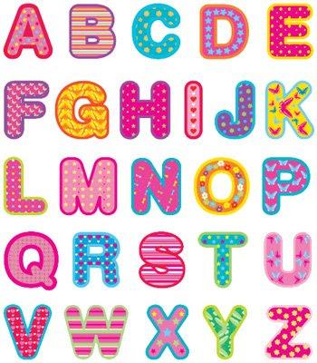 letras muy bonitas y de muchos colores, asique despues de ver este