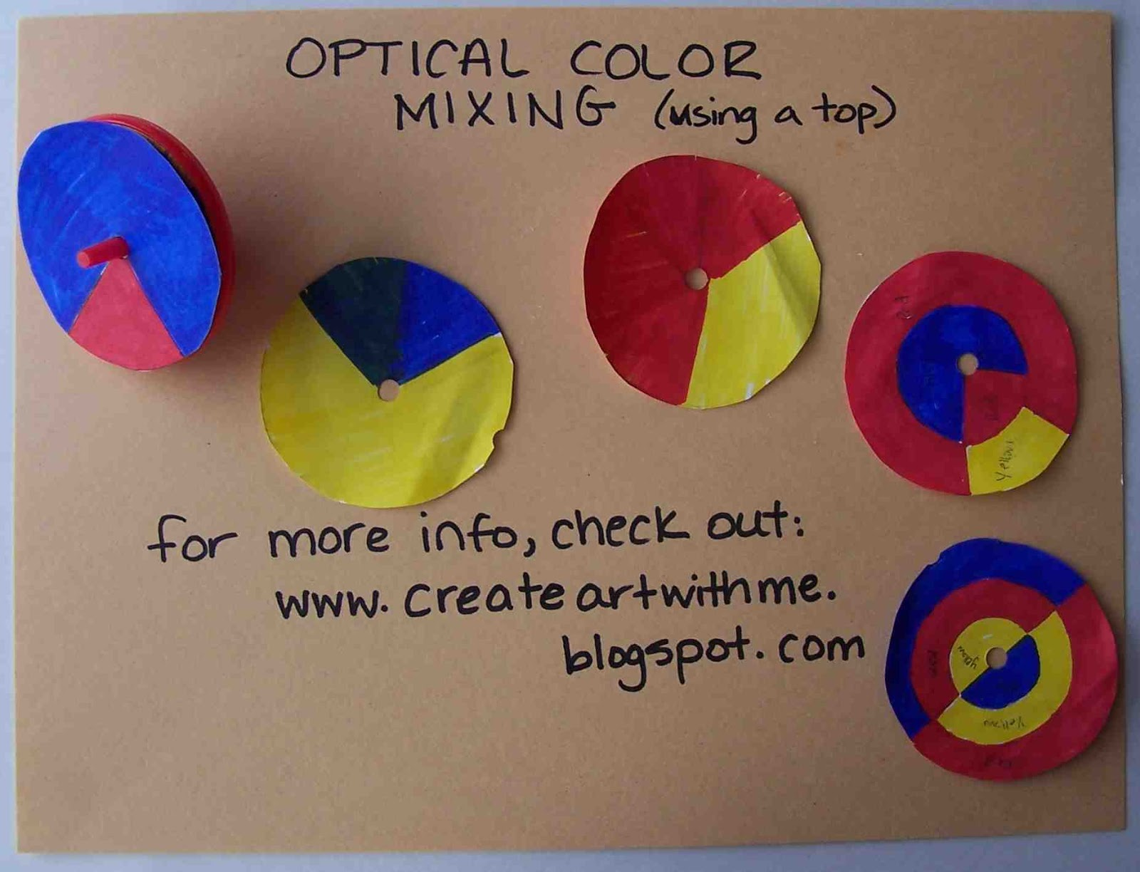 Op art uses color to create - Use The Primaries Red Yellow Blue To Make Secondary Colors Orange Green Purple From The Color Wheel