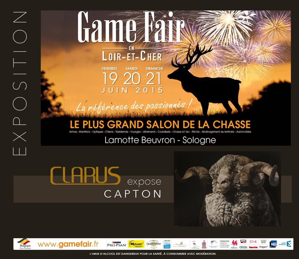 LAMOTTE-BEUVRON : LA GALERIE CLARUS EXPOSE CAPTON AU GAME FAIR