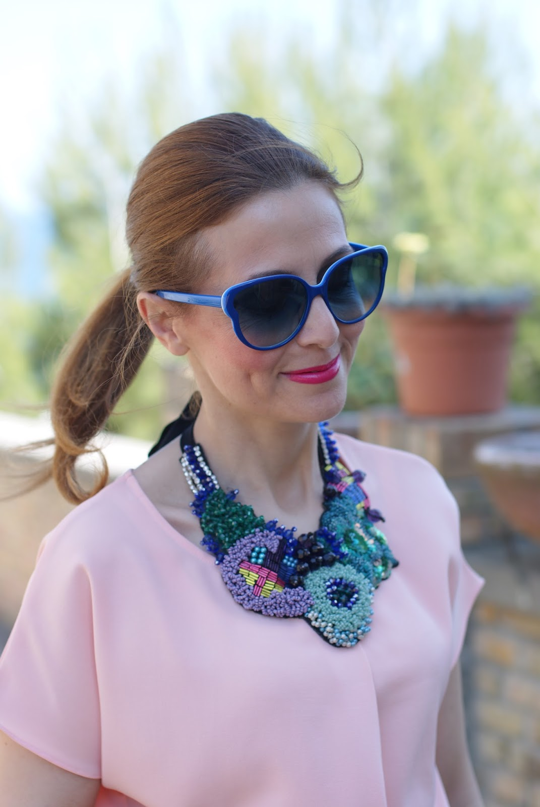 SimonaB Bijoux collana, SimonaB Bijoux statement necklace, Fashion and Cookies fashion blog, fashion blogger style