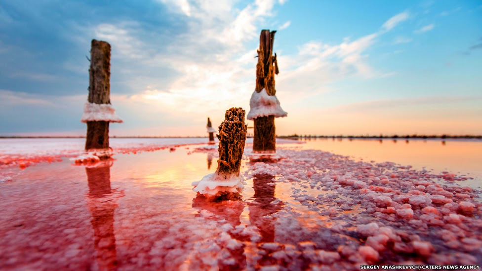 le incredibili saline del Lago di Sivaš