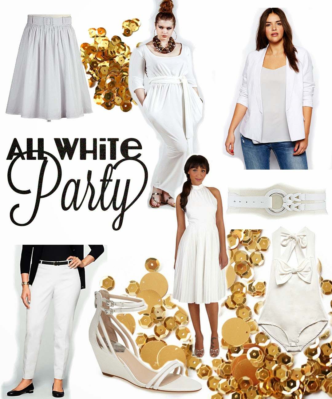 All white party outfits, plus size white dress
