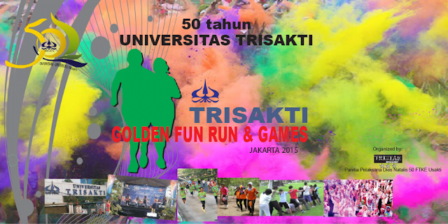 Trisakti Golden Fun Run and Games, lomba lari colour run universitas trisakti jakarta dies natalis trisakti ke-50