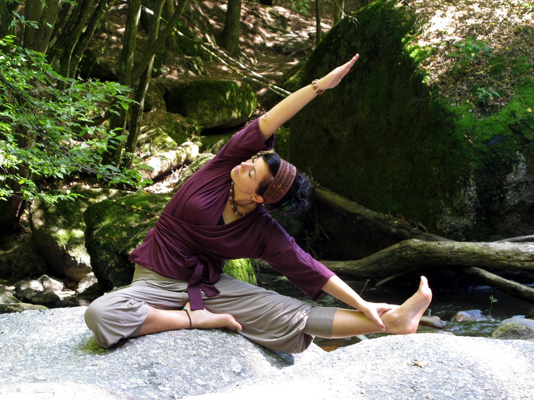 Eigenentwurf yogaoutfit fotografiert