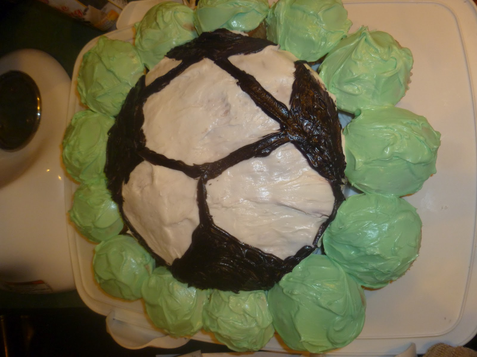 HOW TO MAKE A SOCCER BALL CAKE Mama to 6 Blessings