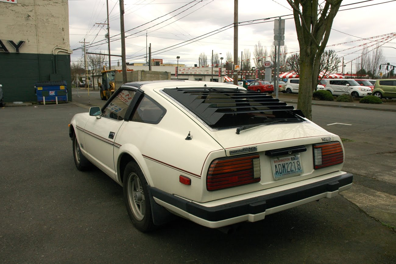 Old parked cars 1982 datsun nissan 280zx turbo for 180sx window louvers