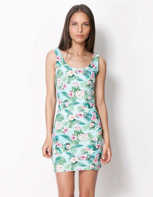 egzotik baskılı elbise, çiçek desenli elbise, mavi elbise