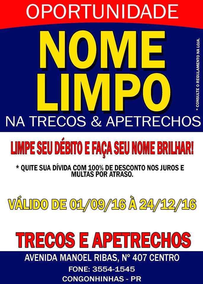 NOME LIMPO NA TRECOS & APETRECHOS..