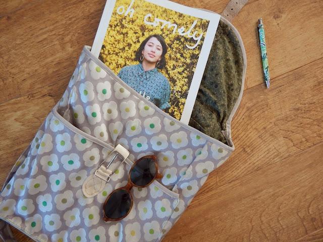 DIY: Sewn Daisy Pistachio Backpack