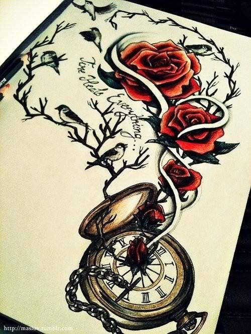 Tattoo ink varios desenhos old school various for Stop watch tattoos