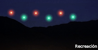 UFO Fleet or Drone Race Over Waraira?