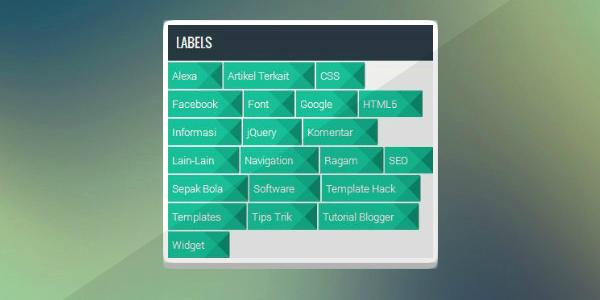 (Screenshot) Cara Membuat Widget Label Cloud Flat UI Hijau Keren