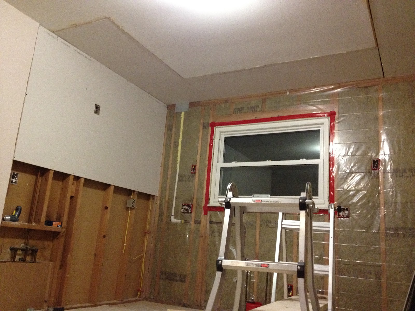 Drywall Moisture Barrier : Our ikea kitchen vapor barrier ceiling drywall