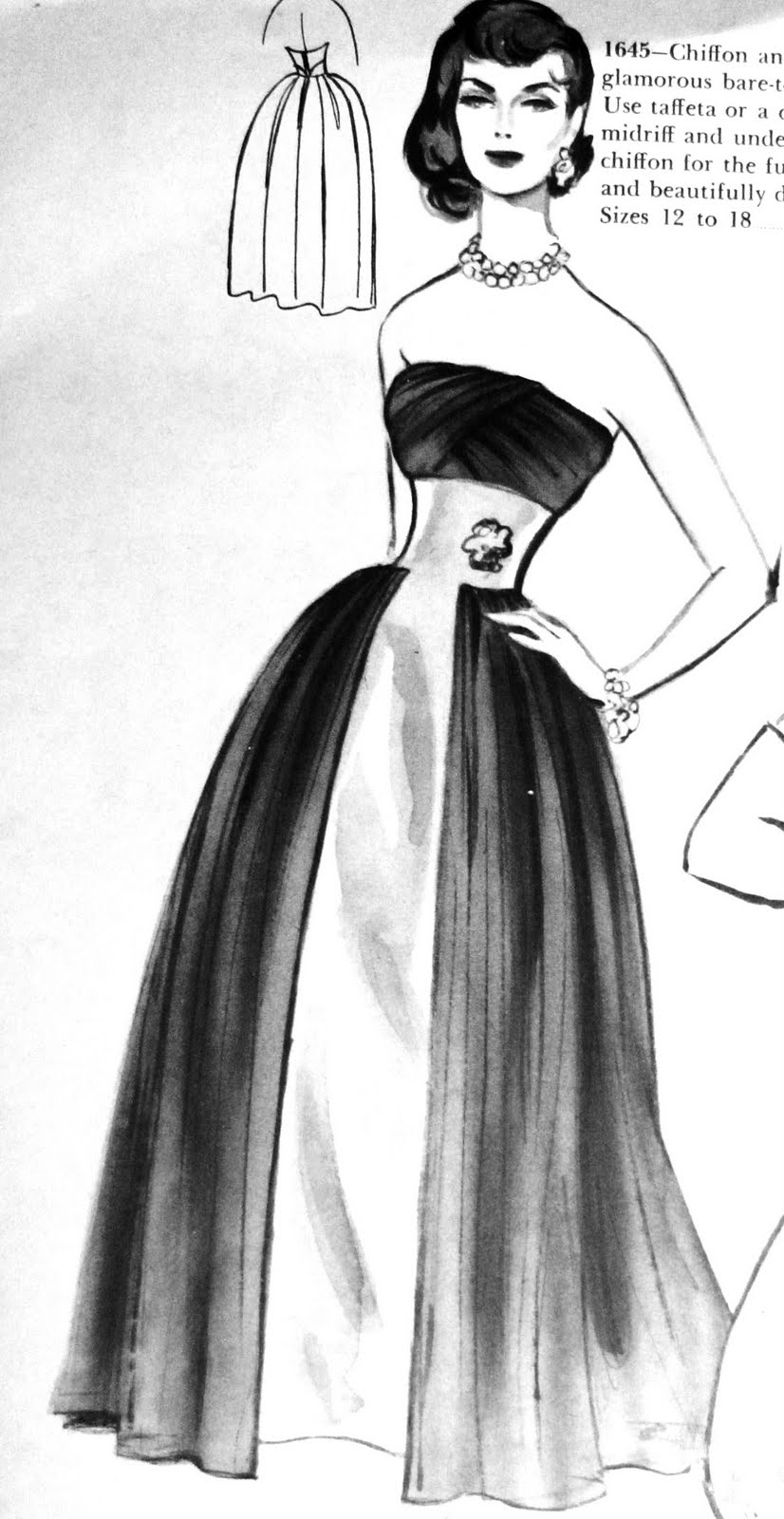 1958 Fashion for Women Cocktail Dresses