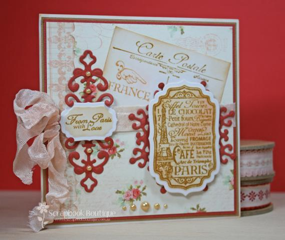 Scrapbook boutique 39 greetings from paris 39 card by sue w - Scrapbooking paris boutique ...