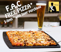 Free Pizza with Beer Purchase