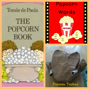 Tomie dePaola, The Popcorn book, Tomie dePaola books, book activities,  author study