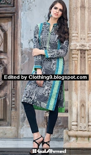 Gul Ahmed Black And White Winter Suits