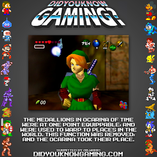 zelda oot medallions fact Random Game Facts   The Legend of Zelda: Ocarina of Time   Equippable Medallions
