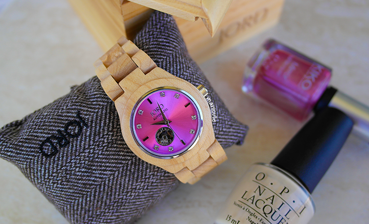 maple & lavender jord watches