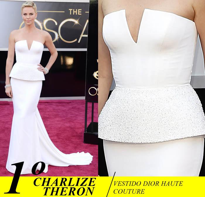 A NOITE DO OSCAR_Top 5_Mais bem vestidas do Oscar 2013_Charlize theron_vestido Dior
