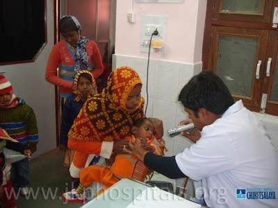 Child cataract patients at Jagadguru Kripalu Ji Maharaj Charitable Hospital, Barsana Dham