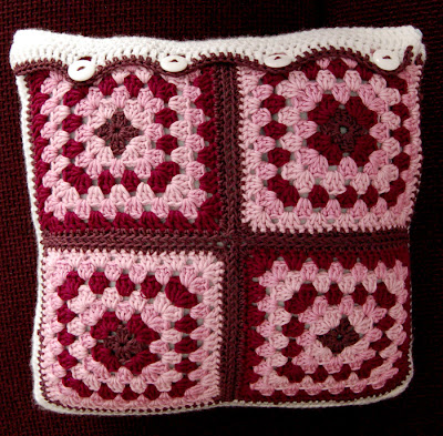 I love how the Granny Square and the Granny Stripe cushions look together