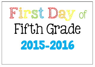 FREE First Day of School Picture Posters 2015-2016