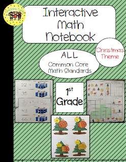 https://www.teacherspayteachers.com/Product/Interactive-Notebook-Common-Core-Math-1st-Grade-Christmas-Theme-1967775