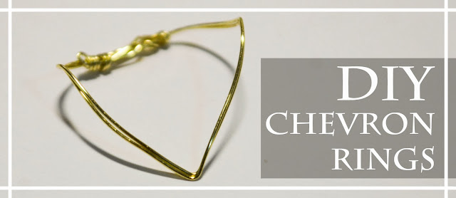 easy diy wire gold point angle ring jewellery simple quick