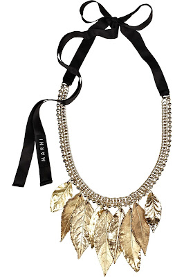 Marni dipped leaf necklace