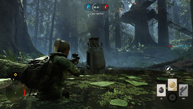 Star Wars: Battlefront Endor swamp drop pod