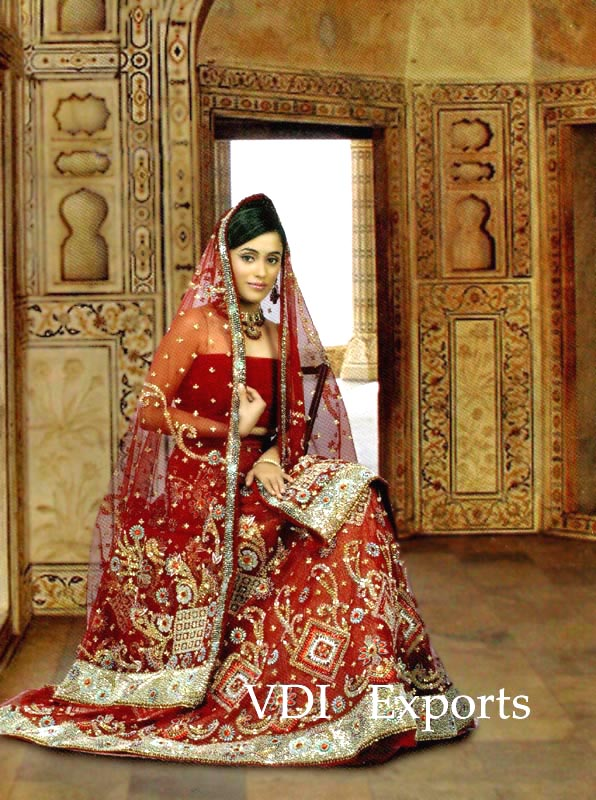 indian bridal wearRed Indian Bridal Dresses