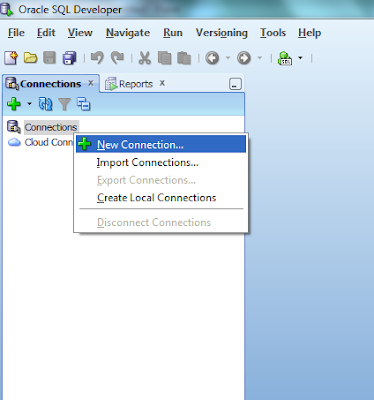 Belajar Oracle - membuat tabel SQL delveloper Connection