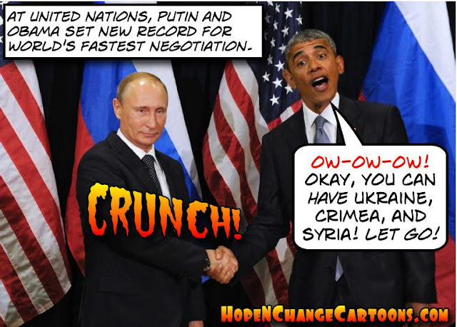 obama, obama jokes, political, humor, cartoon, conservative, hope n' change, hope and change, stilton jarlsberg, united nations, putin, Syria, ISIS