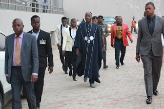 Nigerians reacts to Apostle Suleman Johnson's tight security escorts at event [Photos]