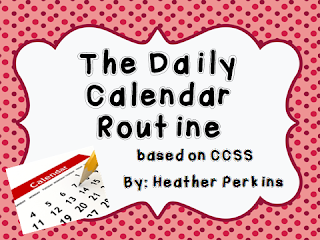 http://www.teacherspayteachers.com/Product/The-Daily-Calendar-Routine-Based-on-CCSS-631987