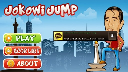 Jokowi Jump APK Game Buatan Anak Negeri