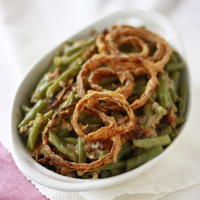 How to make french fried onions for green bean casserole by SeasonWithSpice.com