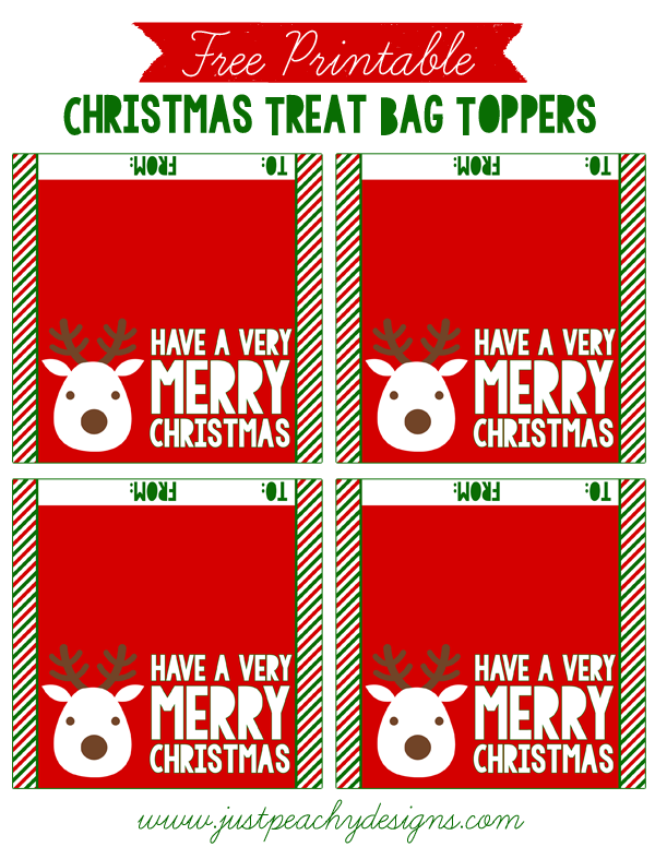 free Christmas treat bag toppers